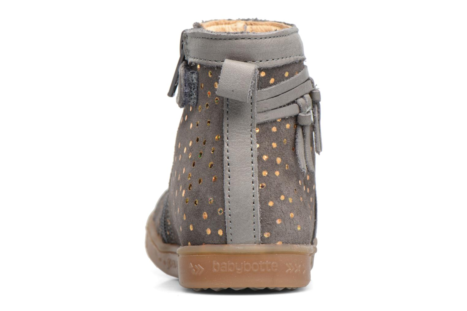 Ankle boots Babybotte Ambalada Grey view from the right