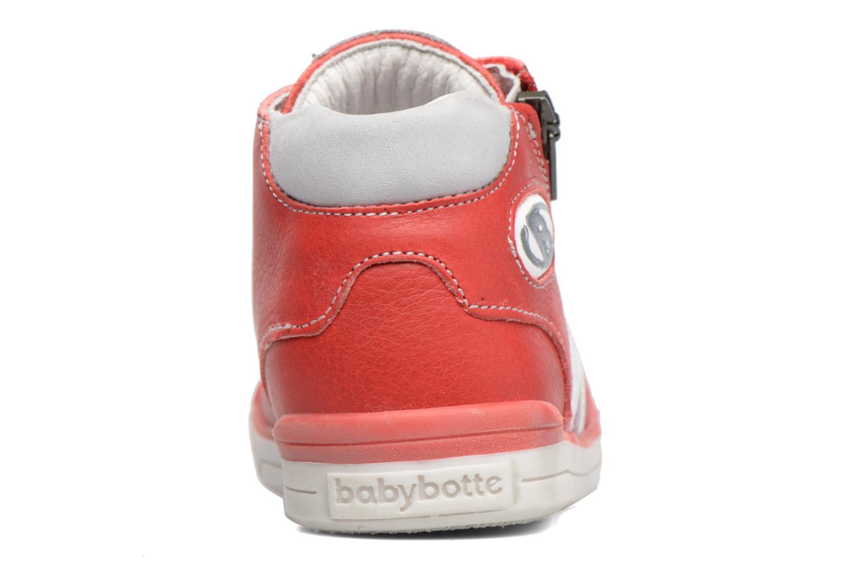 Baskets Babybotte B3 Lacet Rouge vue droite