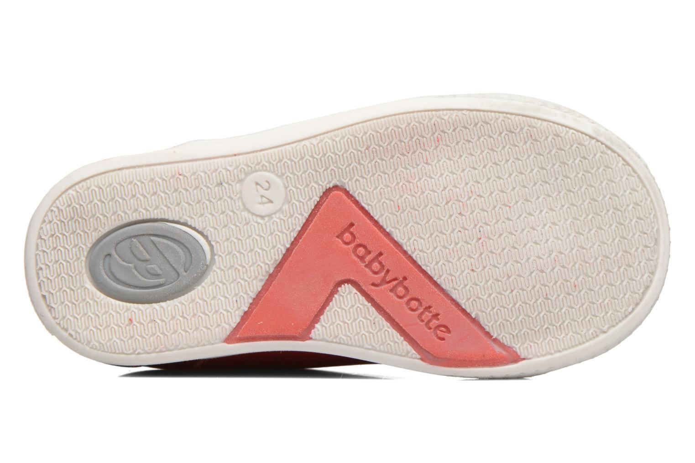 Sneaker Babybotte B3 Lacet rot ansicht von oben