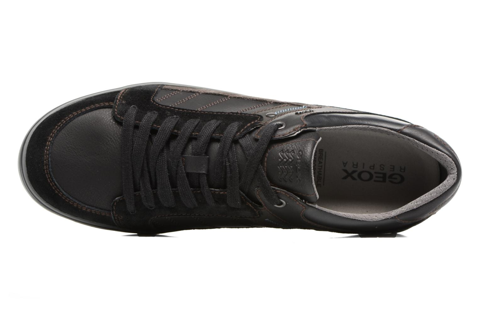 Trainers Geox U Box D U74R3D Black view from the left