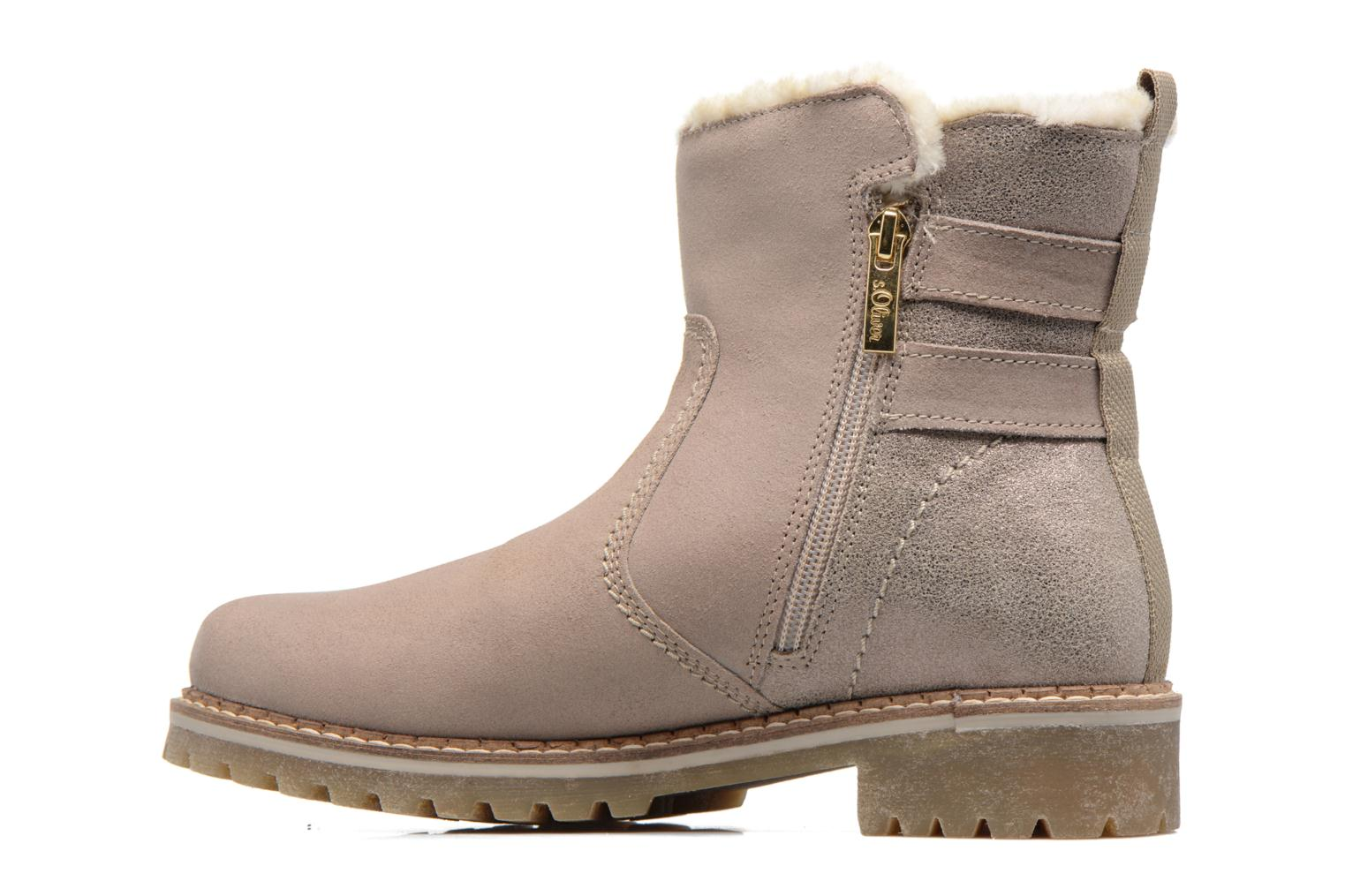 Ankle boots S.Oliver Nilma Beige front view
