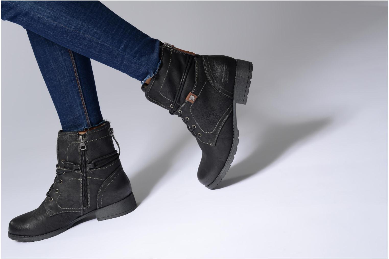 Bottines et boots Tom Tailor Sophia Noir vue bas / vue portée sac