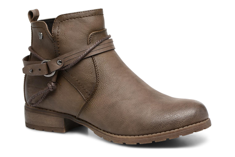 Bottines et boots Tom Tailor Sabrina Marron vue détail/paire