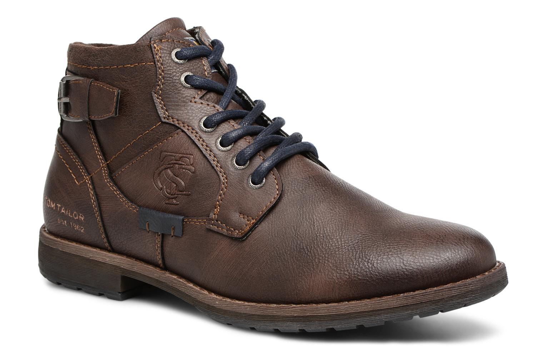 Bottines et boots Tom Tailor Rafael Marron vue détail/paire