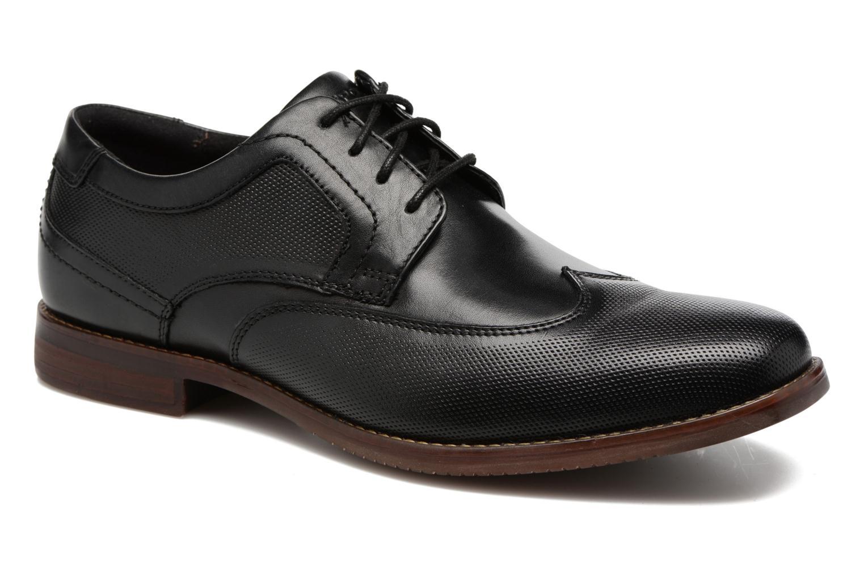 Chaussures à lacets Rockport SP Perf Wingtip Noir vue détail/paire