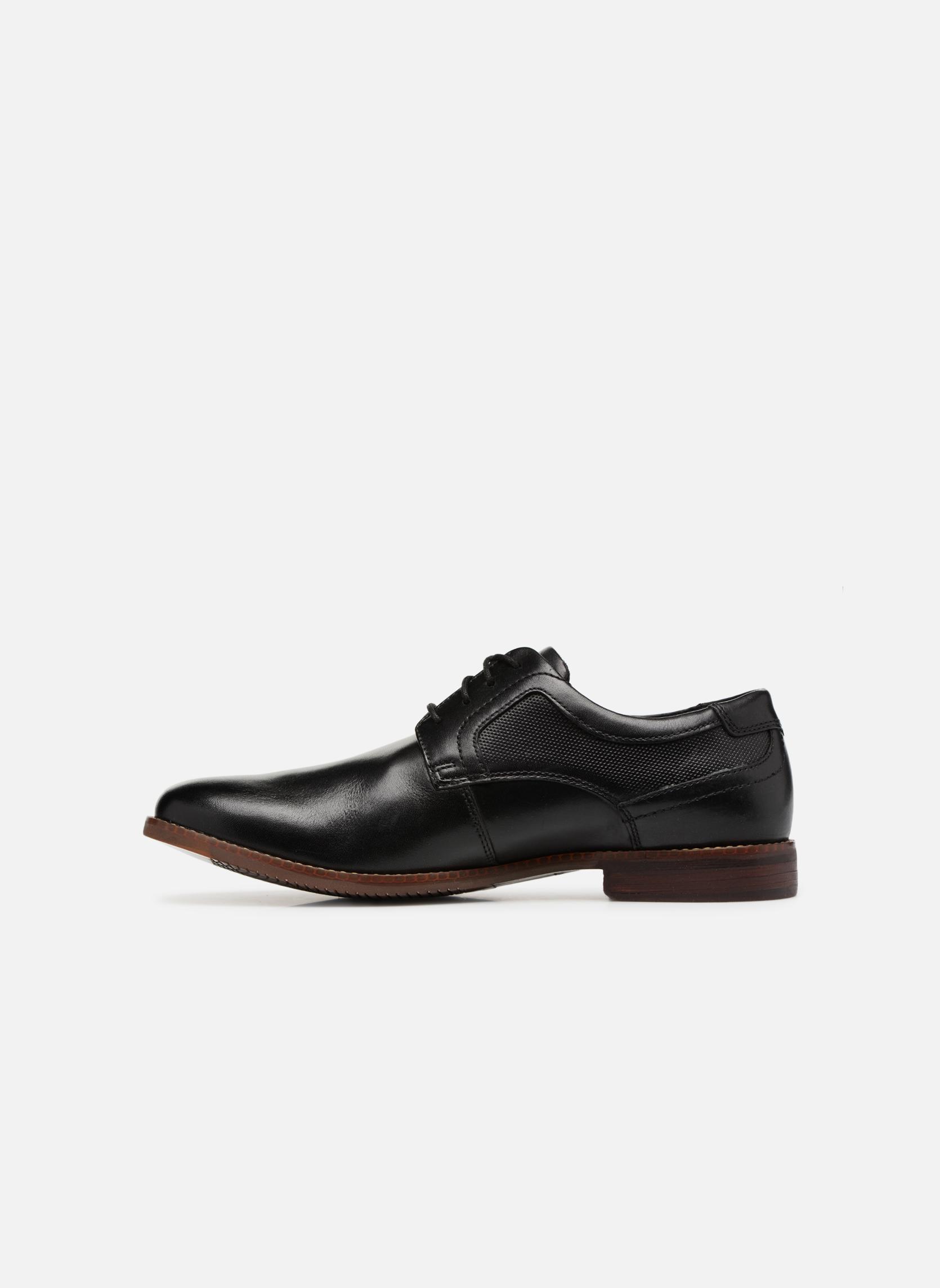 Chaussures à lacets Rockport SP Perf Plain Toe Noir vue face