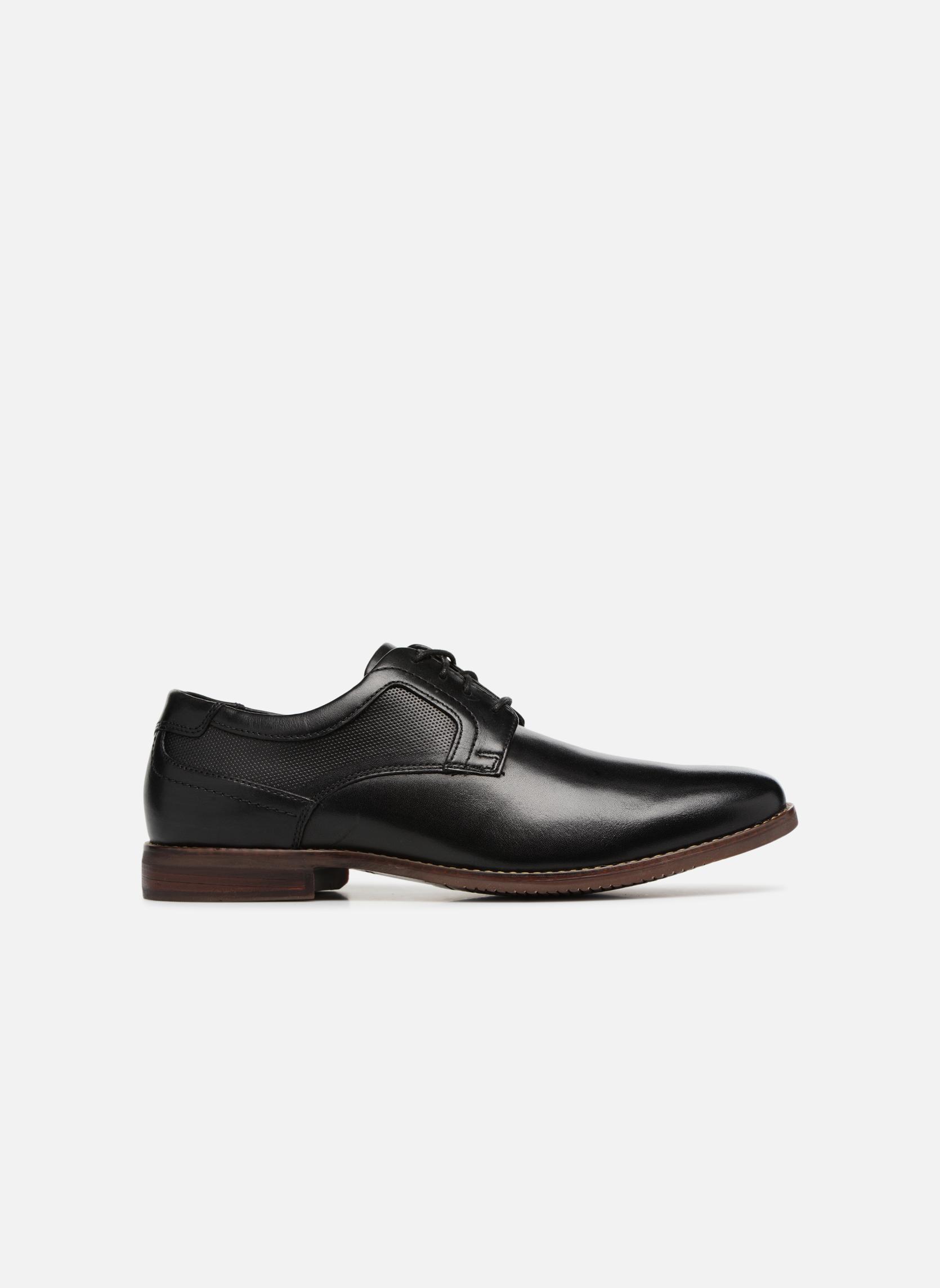Chaussures à lacets Rockport SP Perf Plain Toe Noir vue derrière