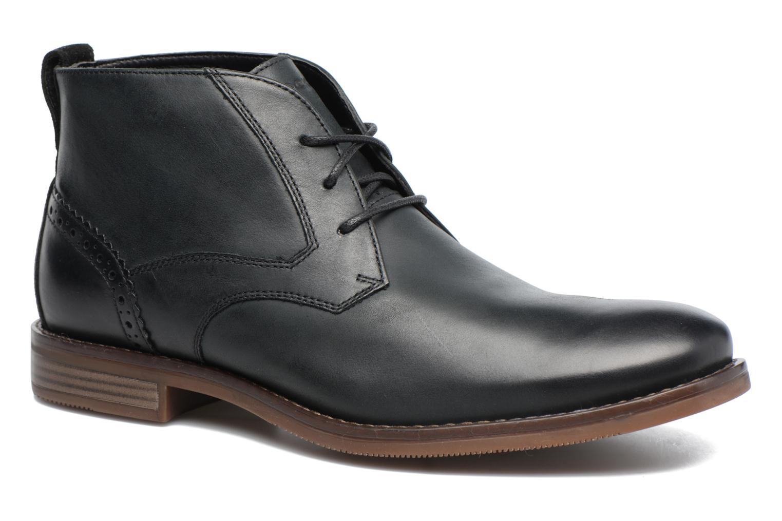 Ankle boots Rockport Wynstin Chukka Black detailed view/ Pair view