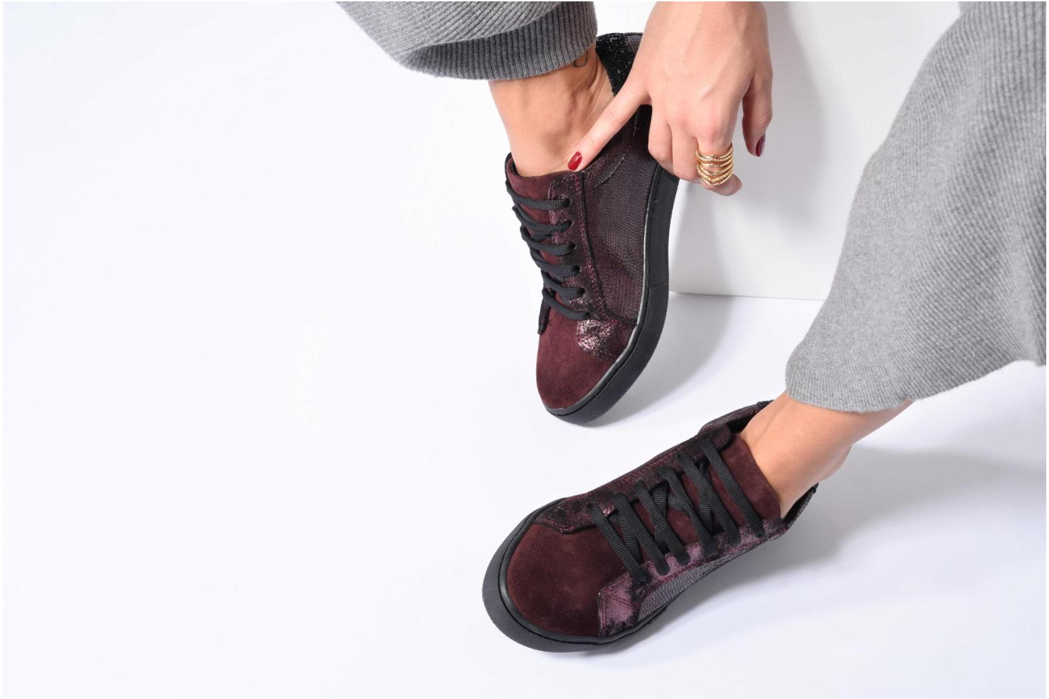 Trainers Georgia Rose Cemoi Burgundy view from underneath / model view