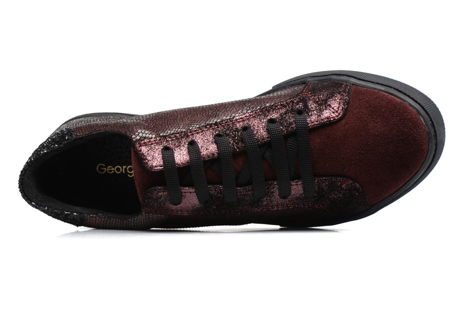 Sneakers Georgia Rose Cemoi Bordeaux se fra venstre