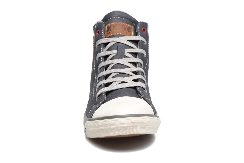 Baskets Mustang shoes Lasselet Gris vue portées chaussures