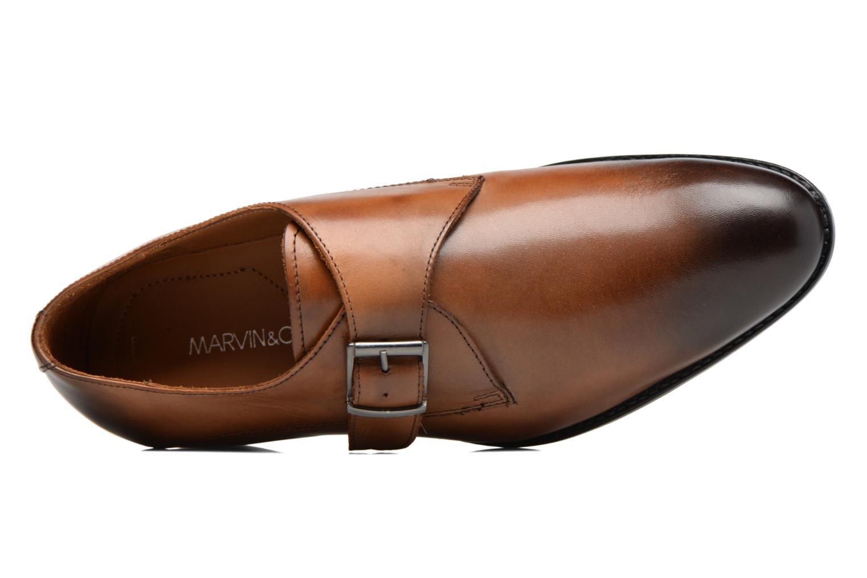 Mocassins Marvin&Co Newbattle Marron vue gauche