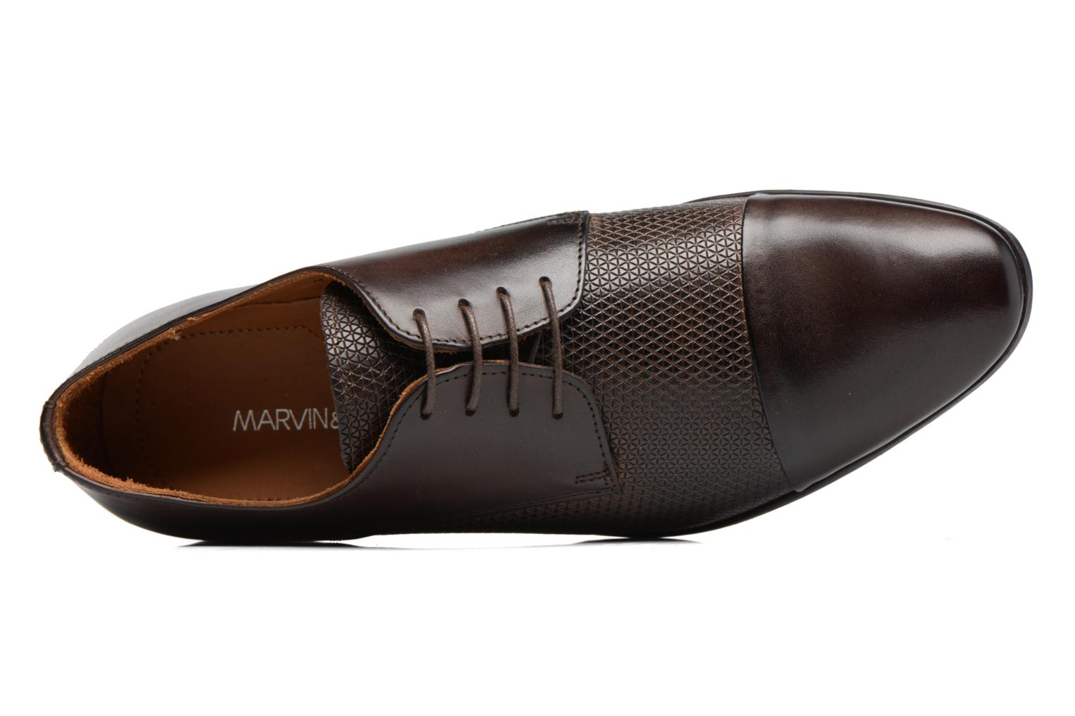 Lace-up shoes Marvin&co Nutley Brown view from the left