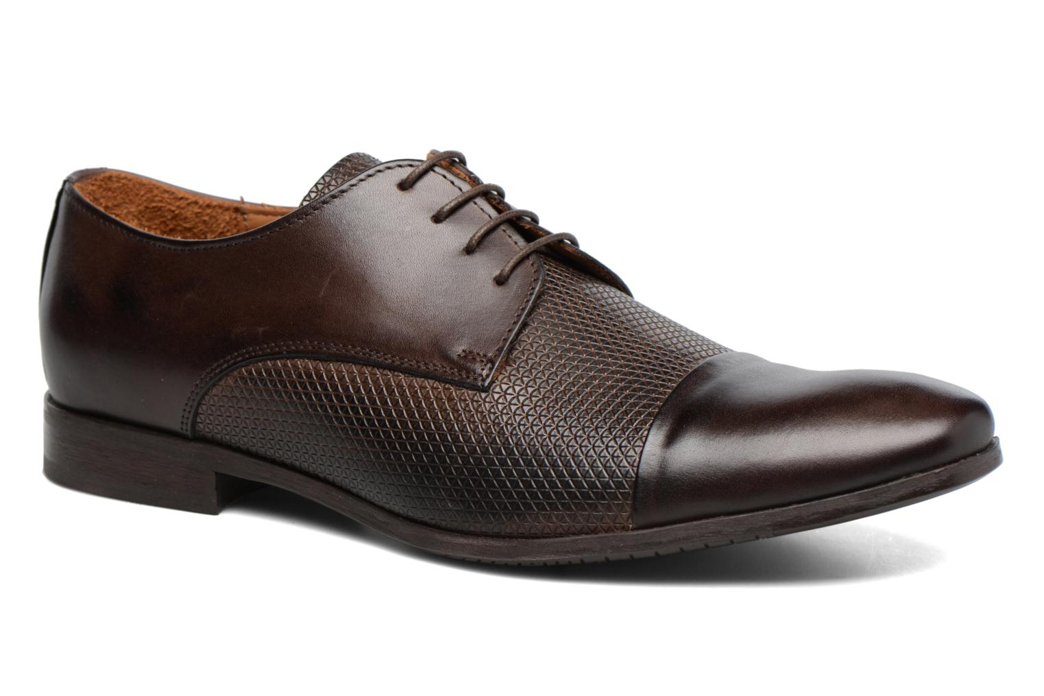 Lace-up shoes Marvin&co Nutley Brown detailed view/ Pair view