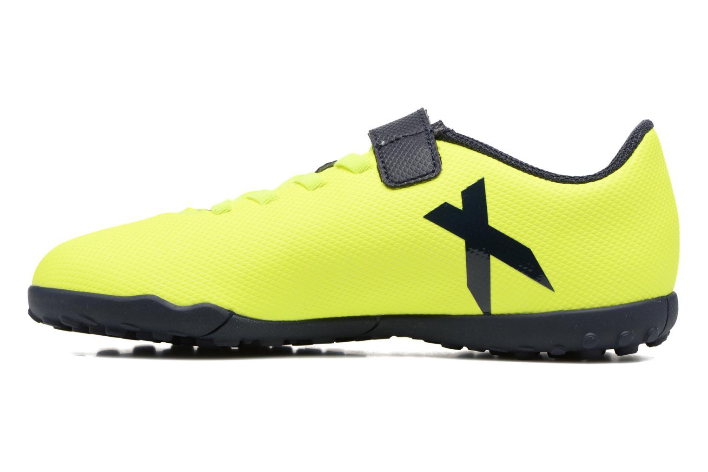 Chaussures de sport Adidas Performance X 17.4 Tf J H&L Jaune vue face