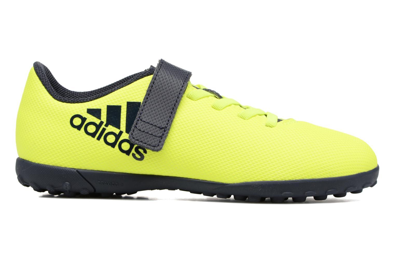 Chaussures de sport Adidas Performance X 17.4 Tf J H&L Jaune vue derrière