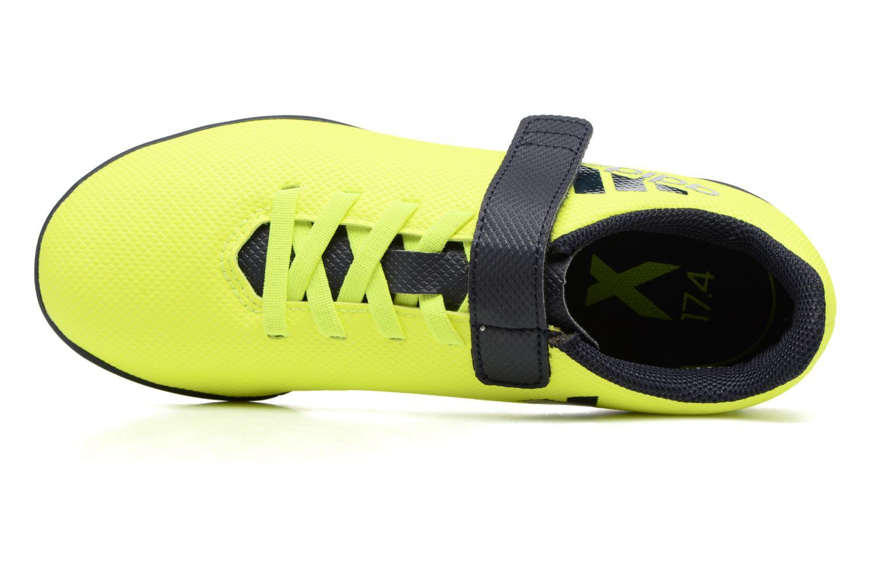 Chaussures de sport Adidas Performance X 17.4 Tf J H&L Jaune vue gauche