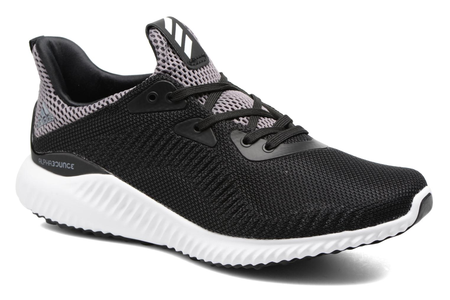 Trainers Adidas Performance Alphabounce J Black detailed view/ Pair view