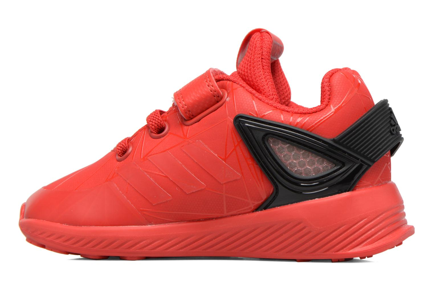 Trainers Adidas Performance Spider-Man Rapidarun I Red front view