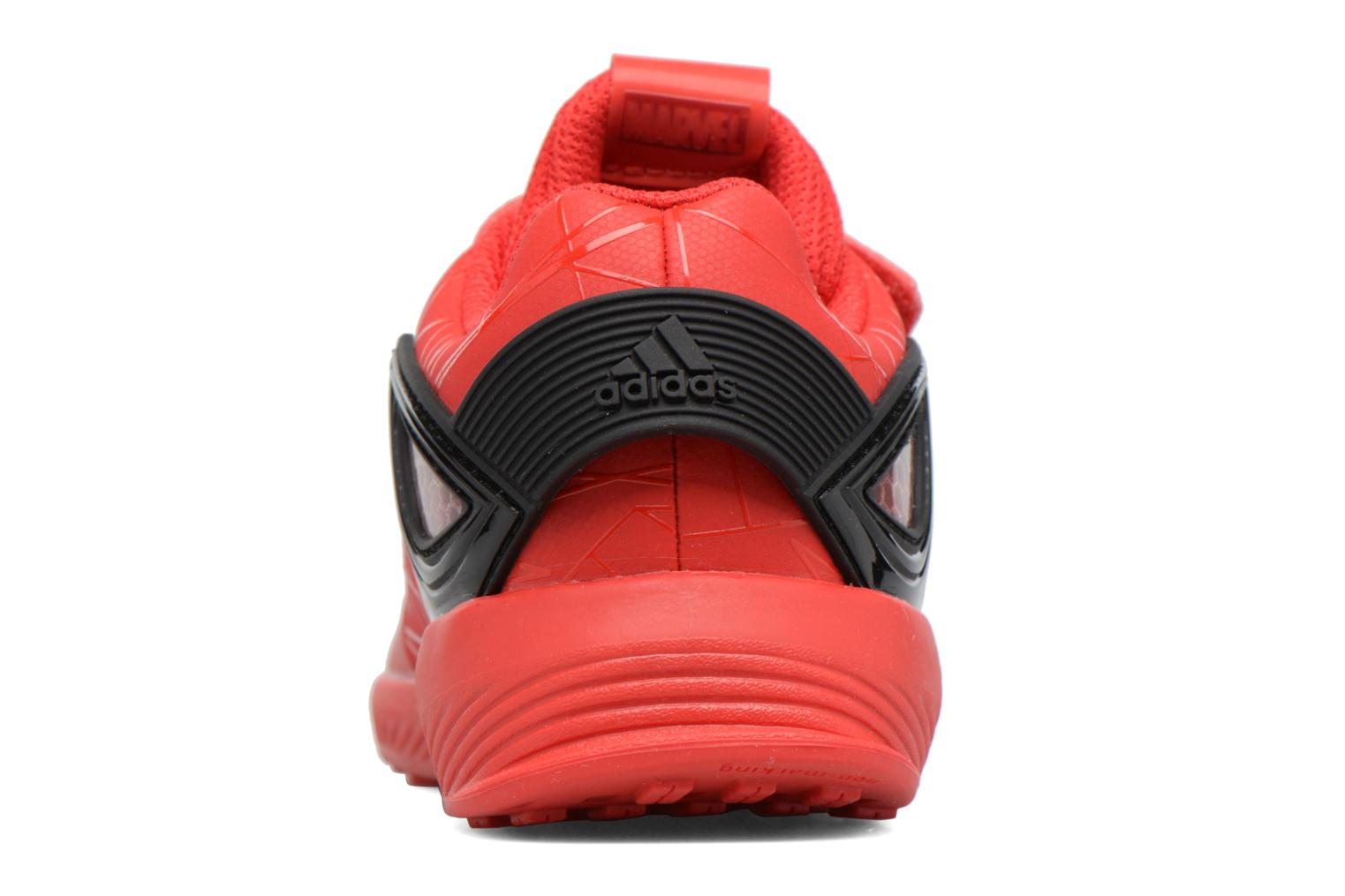 Trainers Adidas Performance Spider-Man Rapidarun I Red view from the right