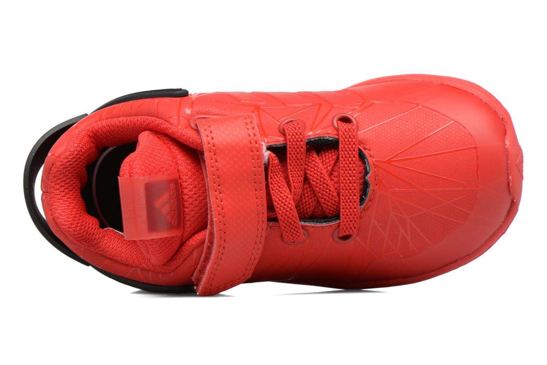 Baskets Adidas Performance Spider-Man Rapidarun I Rouge vue gauche