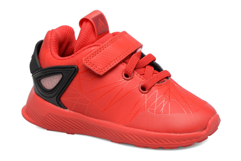 Baskets Adidas Performance Spider-Man Rapidarun I Rouge vue détail/paire