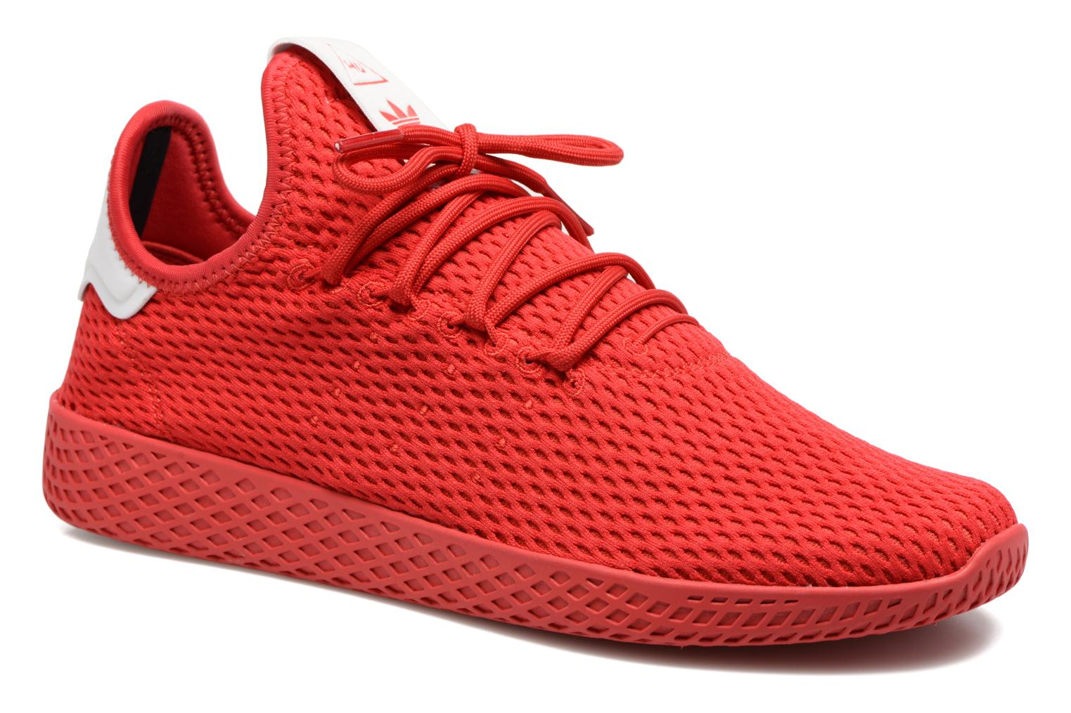 Trainers Adidas Originals Pharrell Williams Tennis Hu Red detailed view/  Pair view