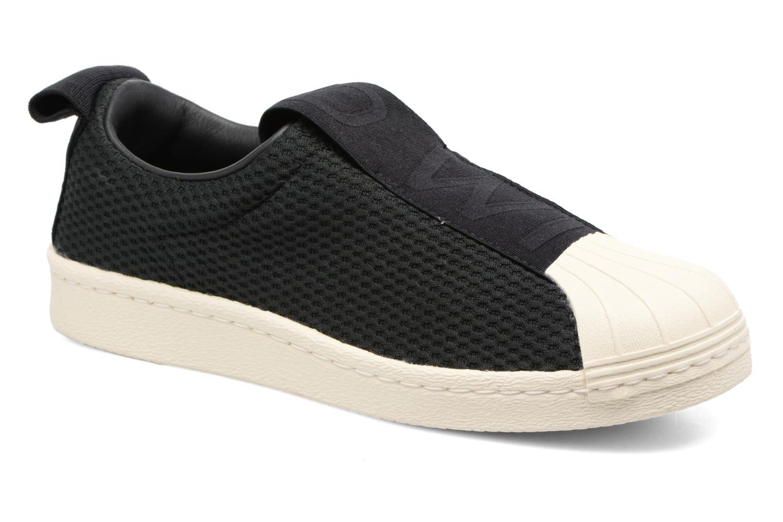 Baskets Adidas Originals Superstar Bw3S Slipon W Noir vue détail/paire
