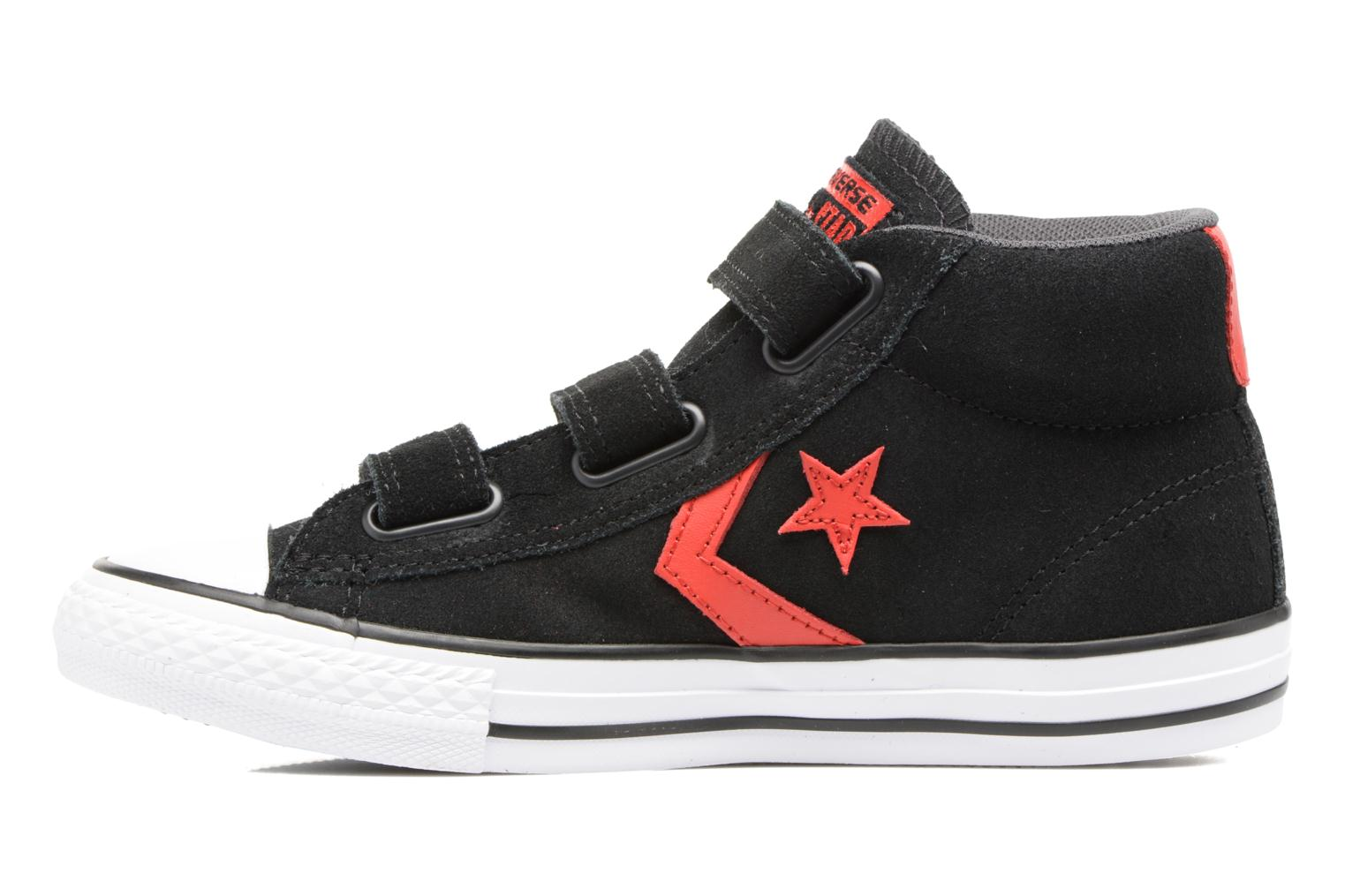 Baskets Converse Star Player EV V Star Player Suede Mid Noir vue face