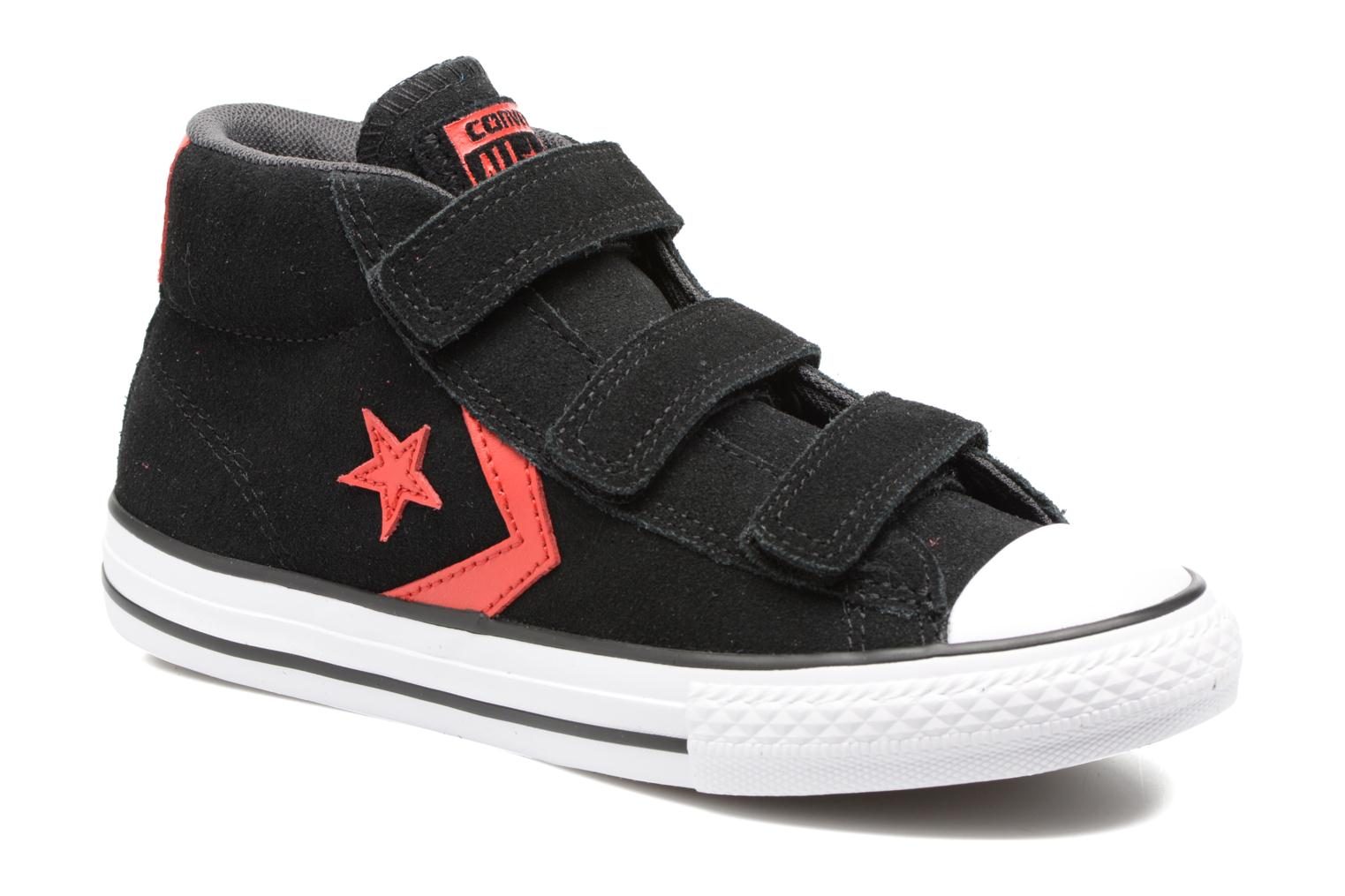 Baskets Converse Star Player EV V Star Player Suede Mid Noir vue détail/paire