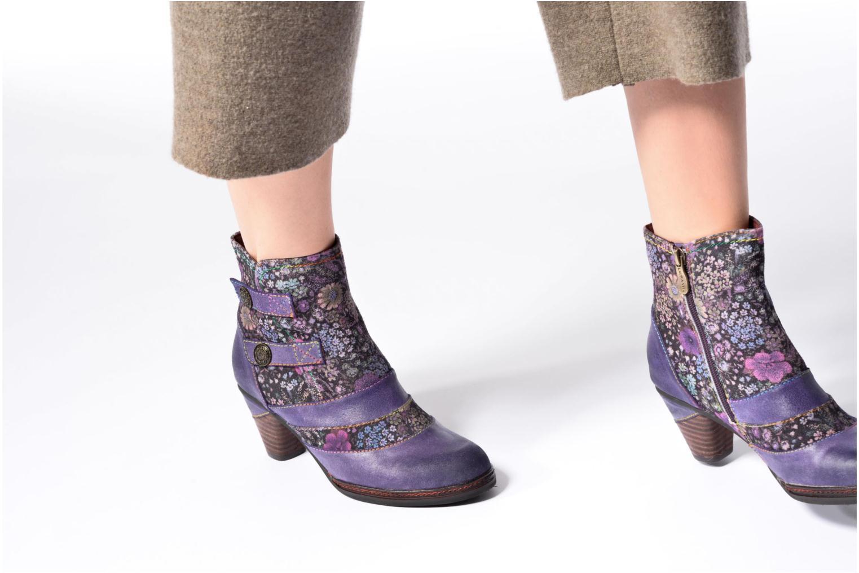 Bottines et boots Laura Vita Alizee 03 Violet vue bas / vue portée sac