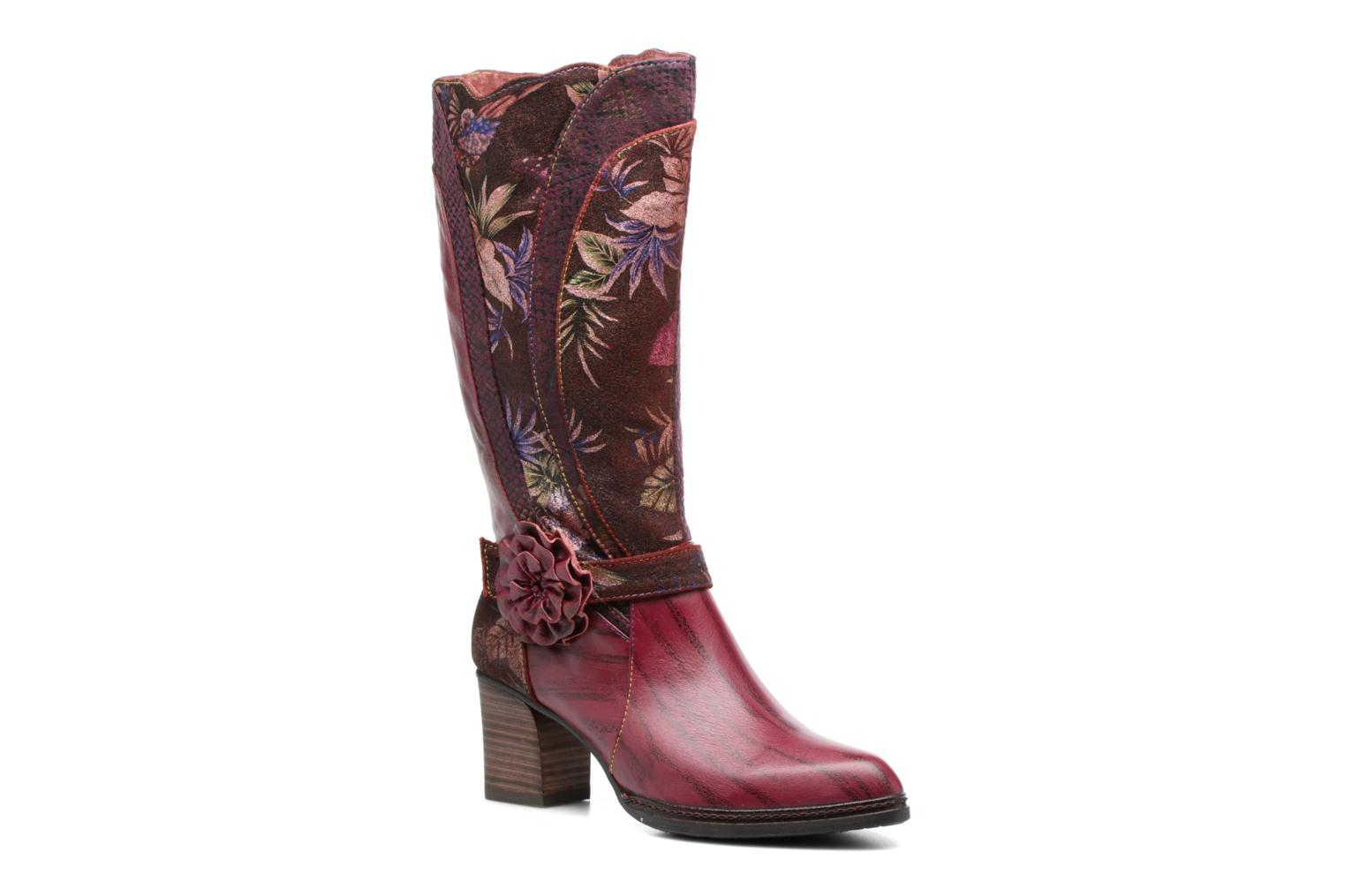 Boots & wellies Laura Vita Celia 02 Burgundy detailed view/ Pair view