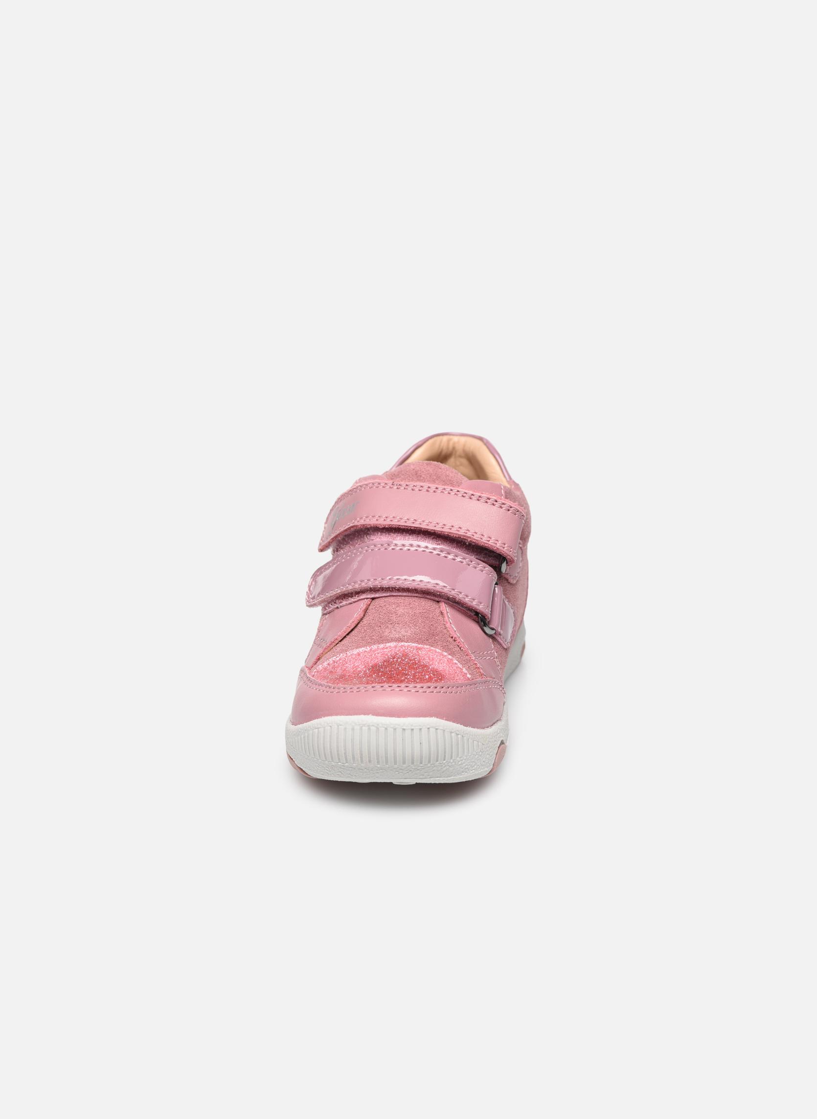 Baskets Geox B N. Balu G. C B740QC Rose vue portées chaussures