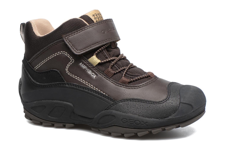 Bottines et boots Geox J N.Savage B.B J741WA Marron vue détail/paire