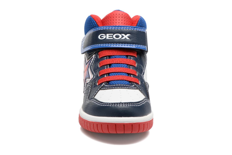 Baskets Geox J Gregg A J7447A Bleu vue portées chaussures