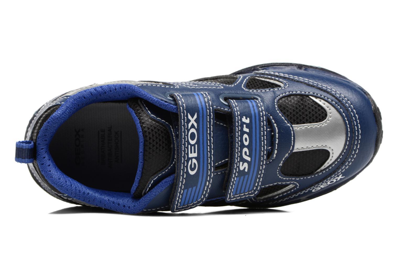 Baskets Geox J Shuttle B. A J7494A Bleu vue gauche