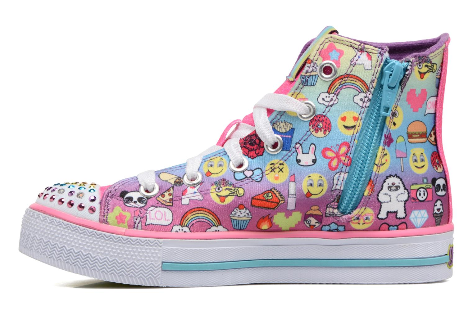 Baskets Skechers Shuffles Chat Time Multicolore vue face