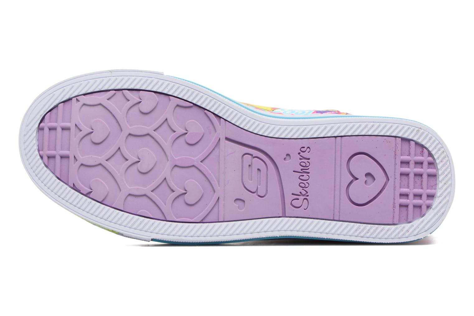 Baskets Skechers Shuffles Chillin Days Multicolore vue haut