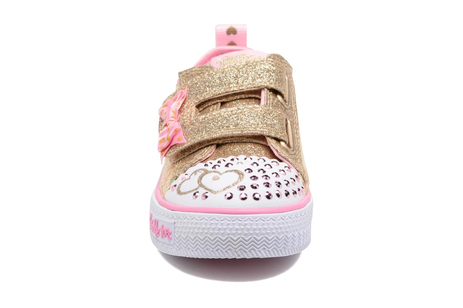 Baskets Skechers Shuffles Itsy Bitsy Or et bronze vue portées chaussures