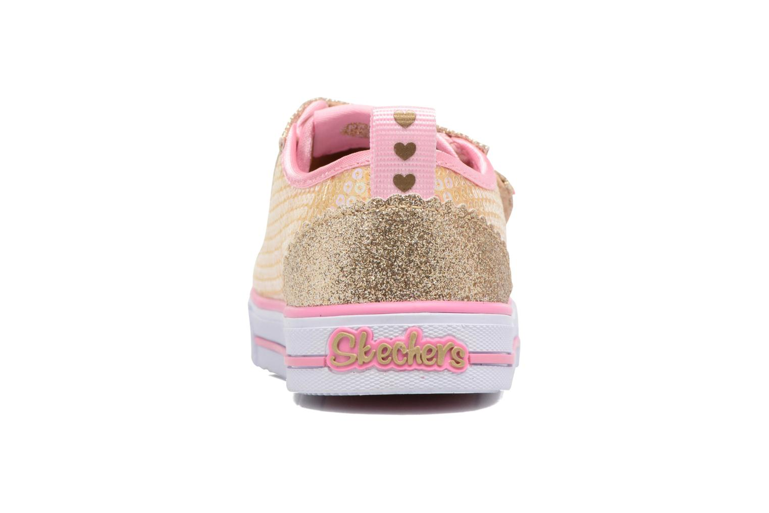 Baskets Skechers Shuffles Itsy Bitsy Or et bronze vue droite