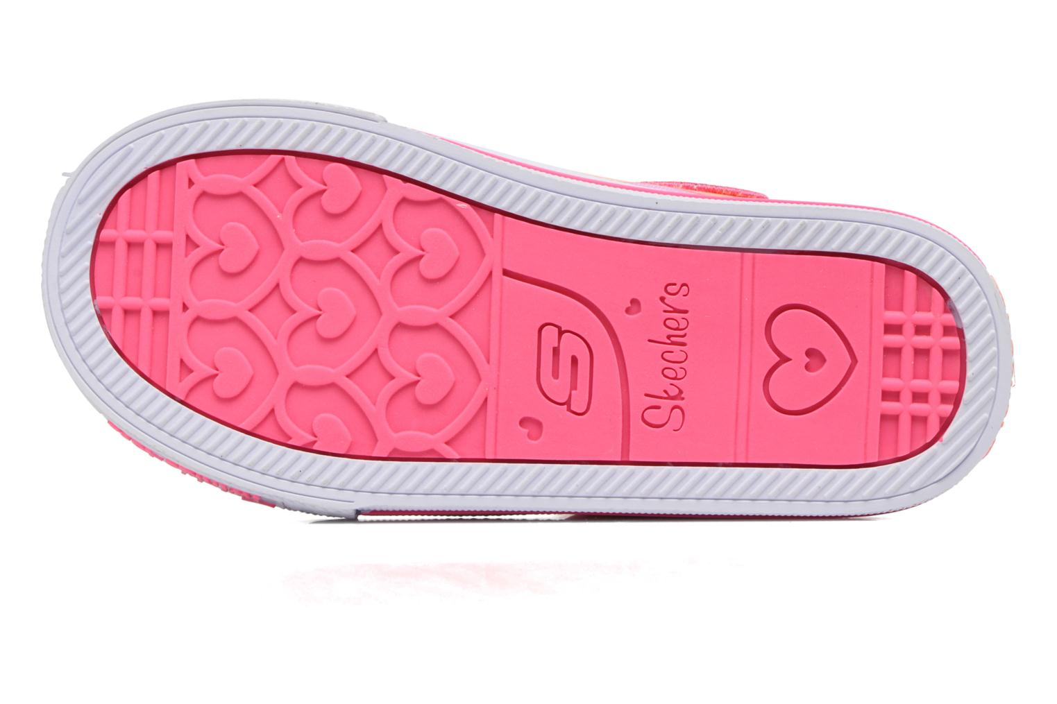 Baskets Skechers Shuffles Party Pets Multicolore vue haut