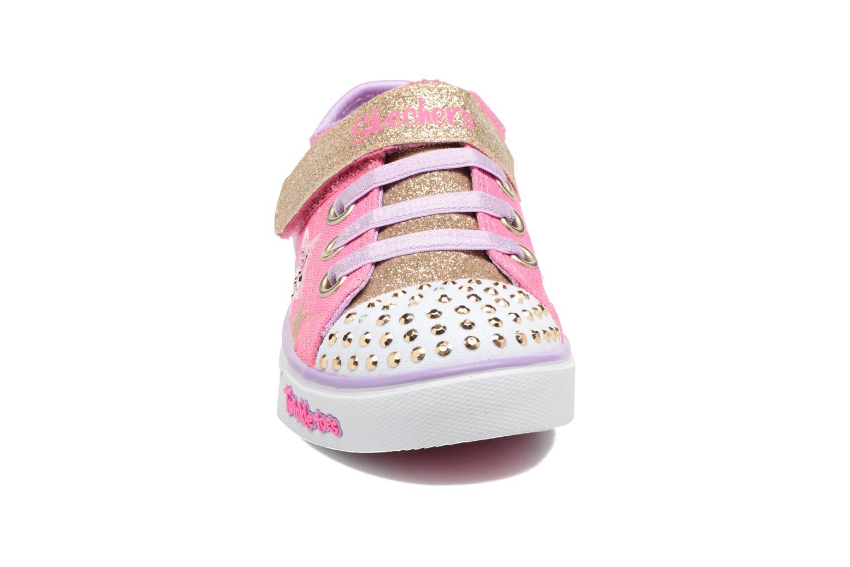 Baskets Skechers Sparkle Glitz Rose vue portées chaussures