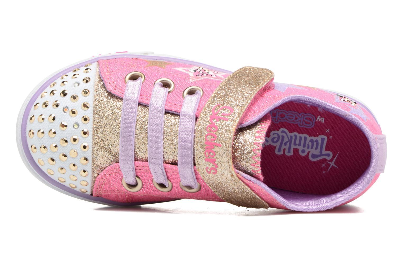 Baskets Skechers Sparkle Glitz Rose vue gauche
