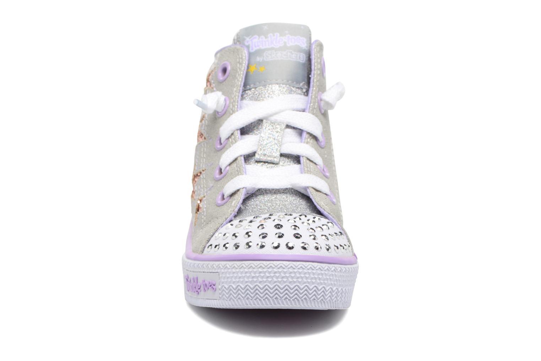 Baskets Skechers Shuffles Lil Rockin Stars Argent vue portées chaussures