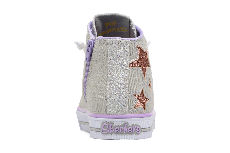 Baskets Skechers Shuffles Lil Rockin Stars Argent vue droite