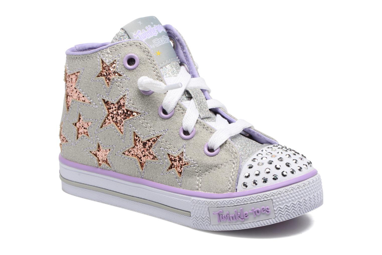 Baskets Skechers Shuffles Lil Rockin Stars Argent vue détail/paire