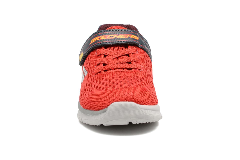 Chaussures de sport Skechers Skech-Lite Micro Stepz Rouge vue portées chaussures