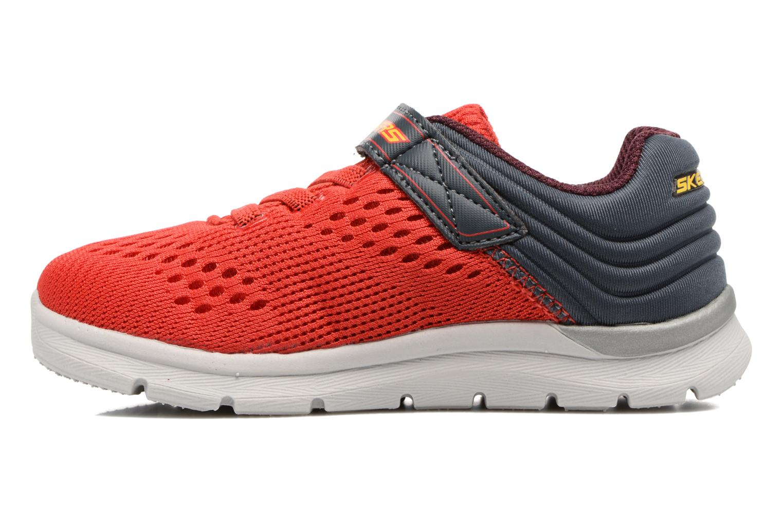 Chaussures de sport Skechers Skech-Lite Micro Stepz Rouge vue face