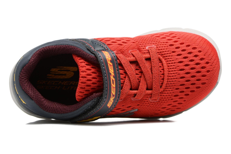 Chaussures de sport Skechers Skech-Lite Micro Stepz Rouge vue gauche