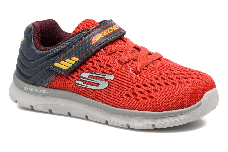 Chaussures de sport Skechers Skech-Lite Micro Stepz Rouge vue détail/paire